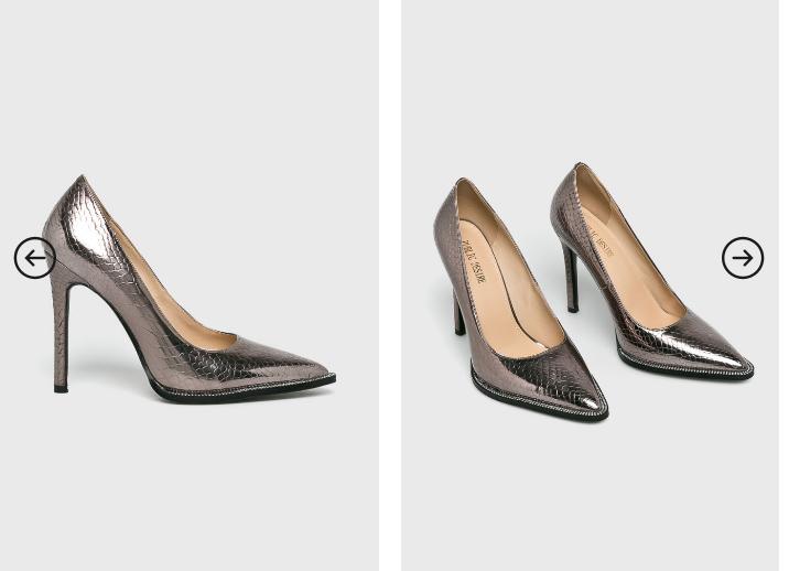 Public Desire - Pantofi cu toc inalt ieftini eleganti gri