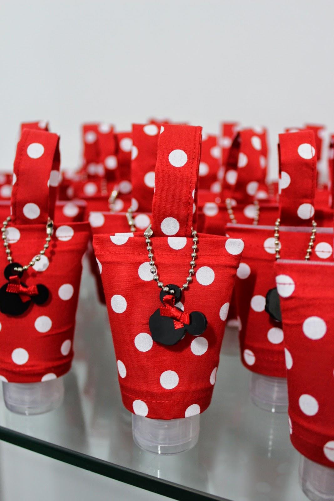 b9543632d491d Festa Lembrancinha Minnie - Álcool em Gel com Capinha e Jogo da ...