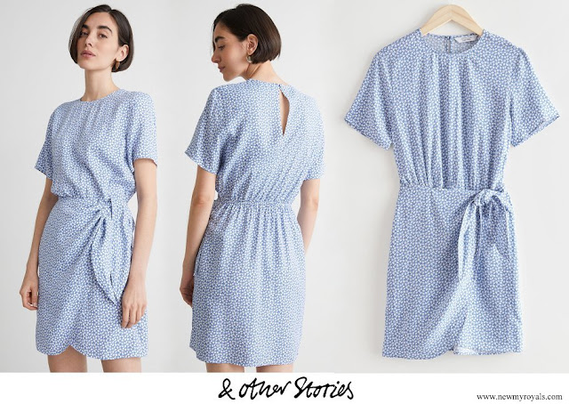 Crown Princess Leonor wore & OTHER STORIES Knot Detail Mini Dress