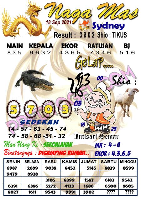 Syair Nagamas Sdy Sabtu 18 September 2021