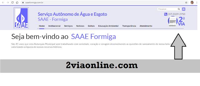Segunda Via SAAE Formiga-MG