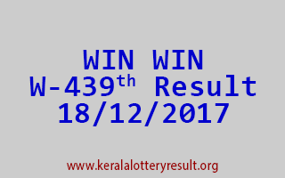 WIN WIN Lottery W 439 Results 18-12-2017