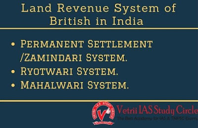Land Revenue System of British in India  - UPSC - TNPSC General Knowledge