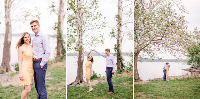 Alexandria, VA Belle Haven Park Engagement Photo Session photographed by Maryland Wedding Photographer Heather Ryan Photography