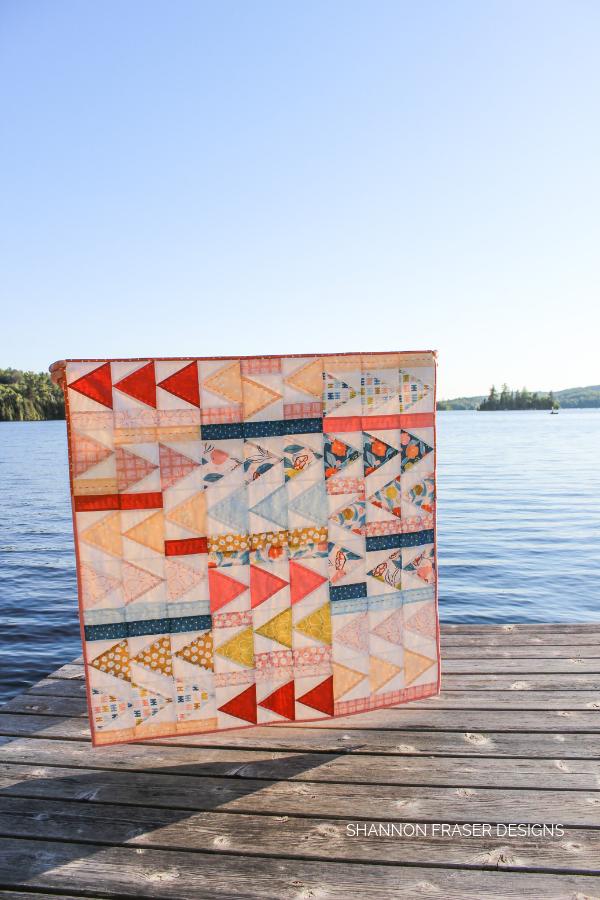 Rollakan Flight Plan Quilt | Modern Quilt Pattern | Shannon Fraser Designs #modernbabyquilt #quiltsinthewild