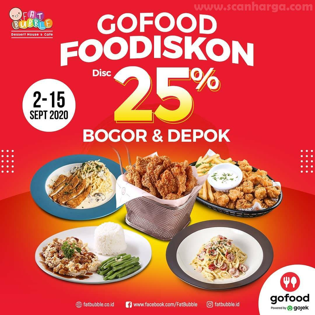 Fat Bubble Promo Gofood FooDiskon 25% Bogor & Depok