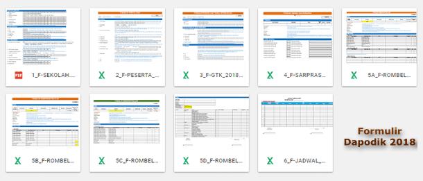 Formulir untuk Aplikasi Dapodik versi 2018.b