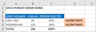Cara Menghitung Persentase Di Excel