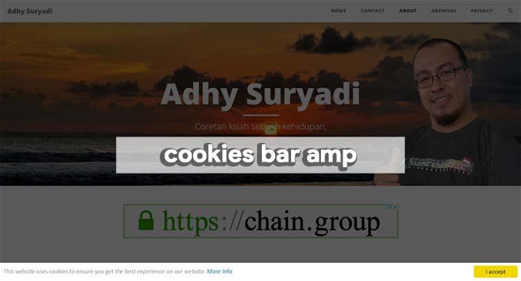 Memasang Cookies Bar Pada Blog AMP HTML