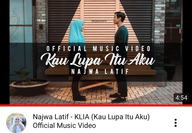 LIRIK LAGU NAJWA LATIFF | KLIA (Kau Lupa Itu Aku) Official Music Video