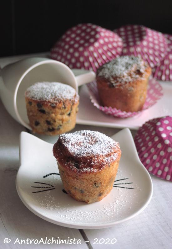 Muffin con Gocce di Cioccolato per Friggitrice ad Aria