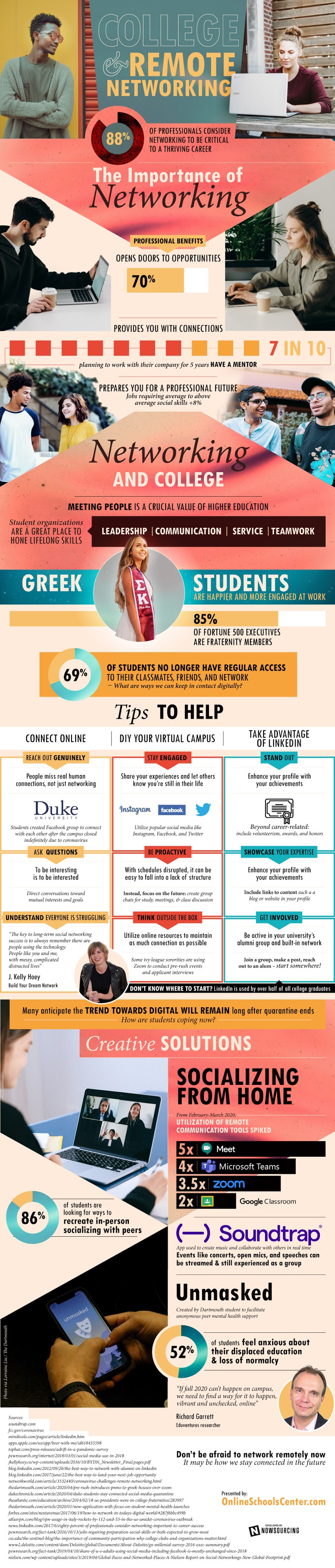 College & Remote Networking #infographic