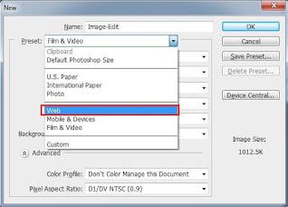 Photoshop Size, U.S. Paper, Photo, Web, International Paper, Mobile & Devices.