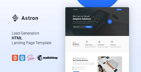 Best Lead Generation HTML Landing Page Template