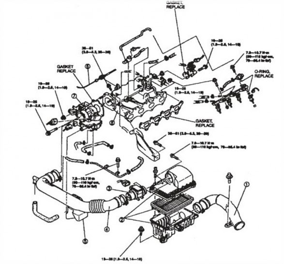 mazda b2200 fuel injector diagram