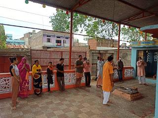 खेड़ापति हनुमान मंदिर में श्री राम आरती की गई