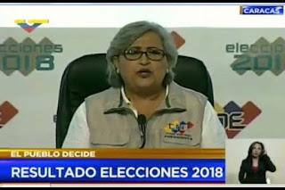 CNE RATIFICA EL RESULTADO FAVORABLE A MADURO