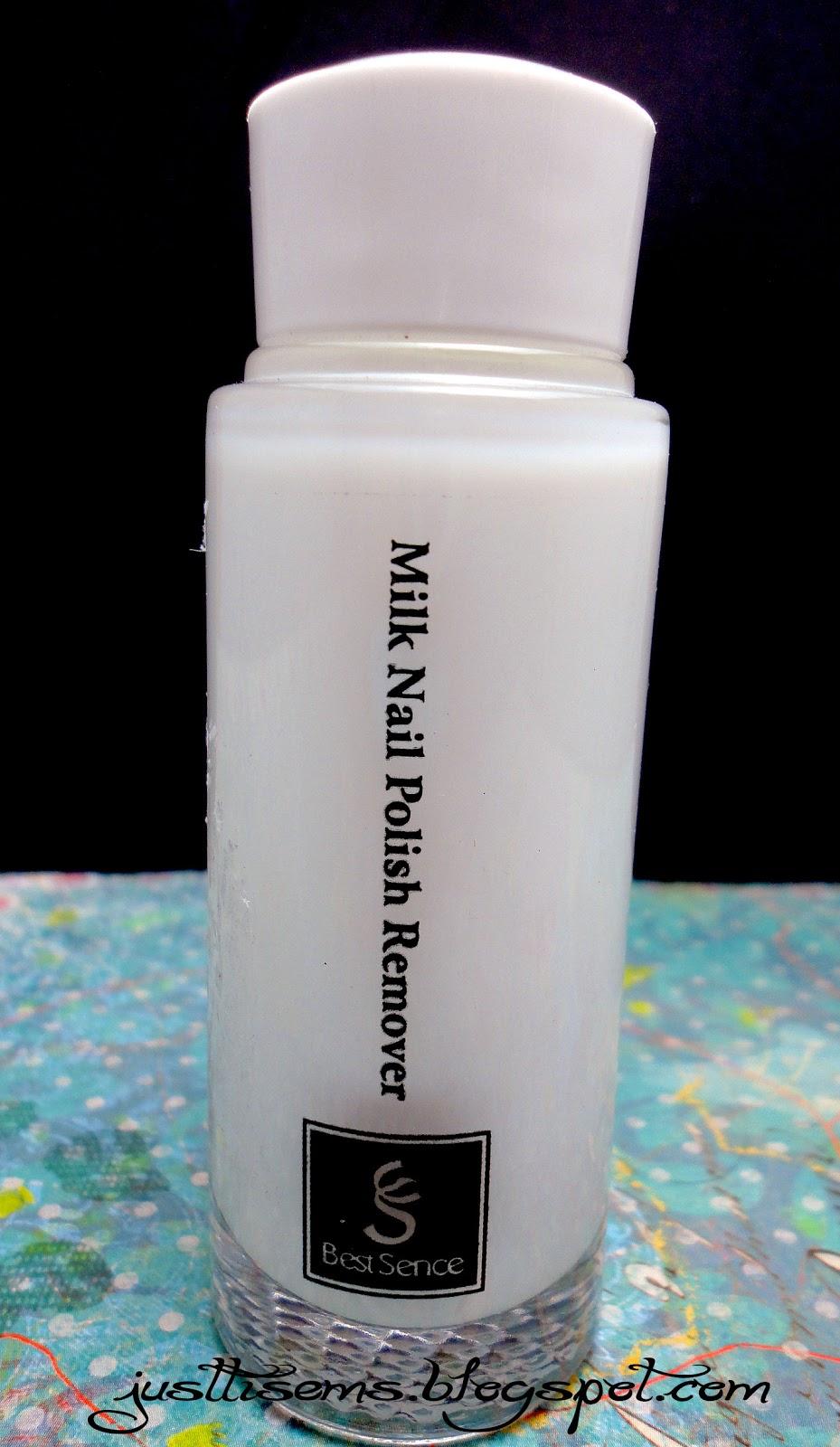 Just Tis Ems Review Best Sence Milk Nail Polish Remover Bese B015 Milk