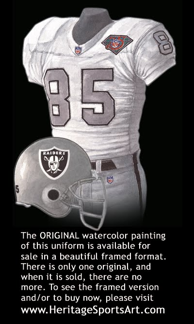 fa180ff46ee Oakland Raiders Uniform and Team History | Heritage Uniforms and Jerseys