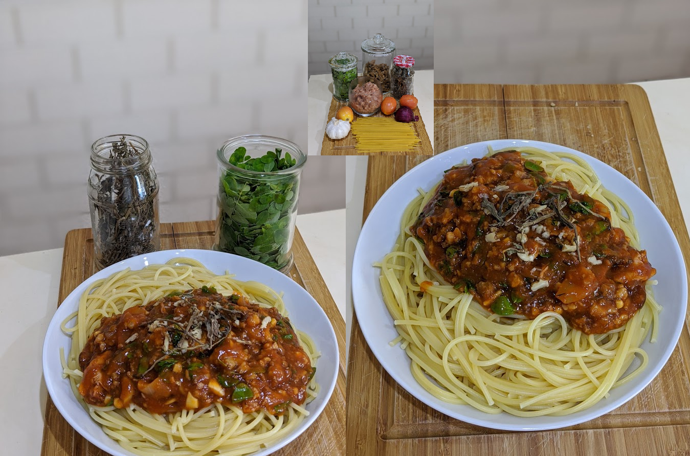 omnipork spaghetti plantbased