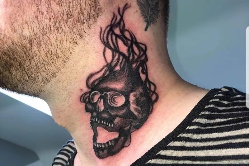 Medium/Big size neck tattoos