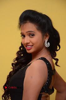 Actress Nakshatra Pictures in Black Long Dress at Miss South India 2016 Press Meet  0009.jpg