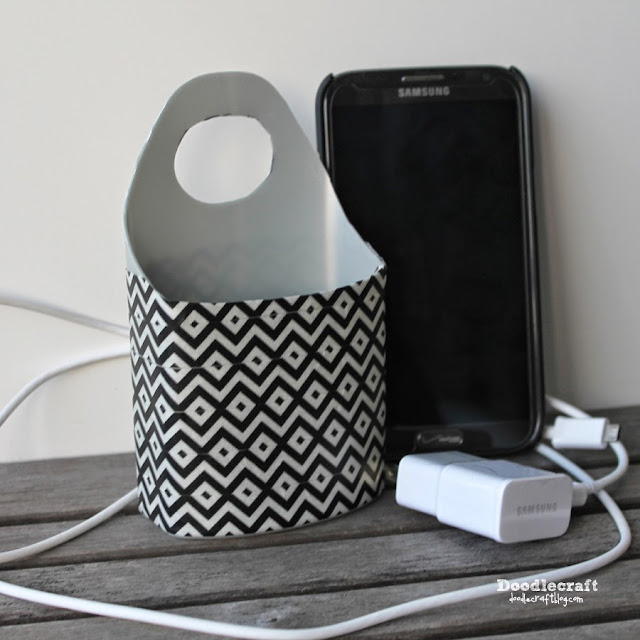 Phone Charging Station  Make a phone charging station as a great gift, using something you probably already have!