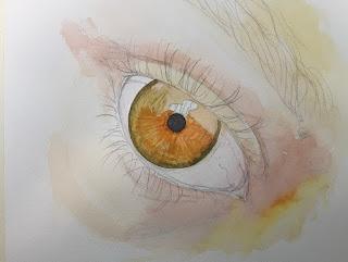 expresión-de-una-mirada-pinturas-acuarelas cuadros-miradas expresivas