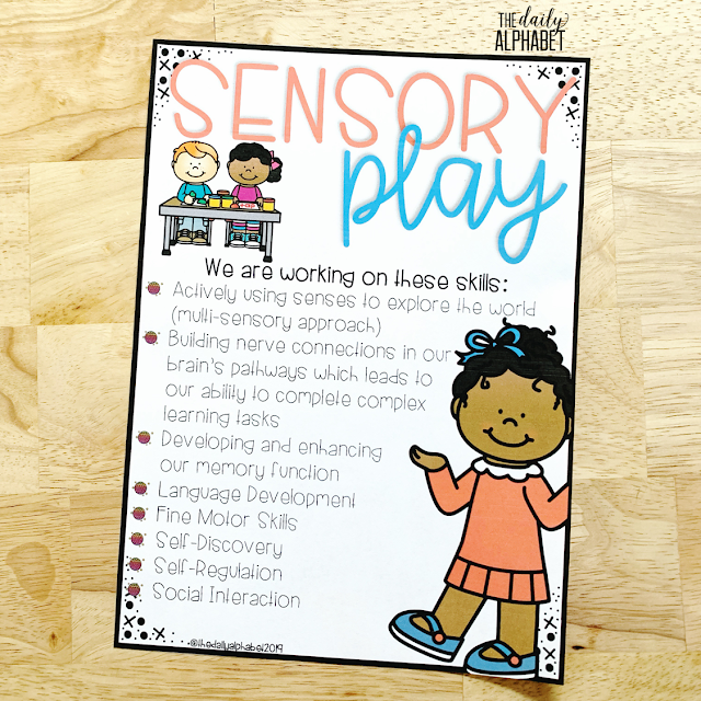 Great ideas for integrating DIY sensory tables into a kindergarten classroom! This is great for teaching all learners through their senses, helping them to define their physical, social & emotional, cognitive, language & creative development.