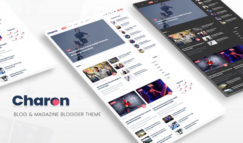 Charon Blog & Magazine Blogger Templates