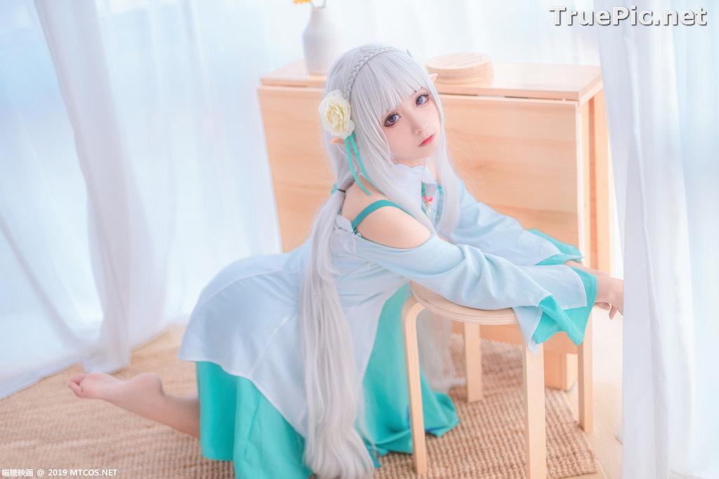 Image [MTCos] 喵糖映画 Vol.020 – Chinese Cute Model – Re:Zero Emilia Cosplay - TruePic.net - Picture-9