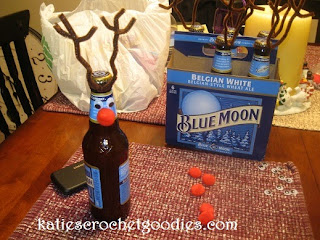 diy reindeer beer bottle gift