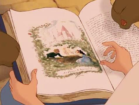 Ilustración con el nombre de Leprince de Beaumont en La Bella y la Bestia - Cine de Escritor