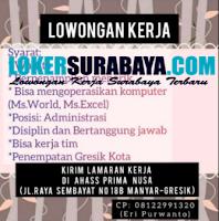 Info Loker Gresik di Ahass Prima Nusa September 2020