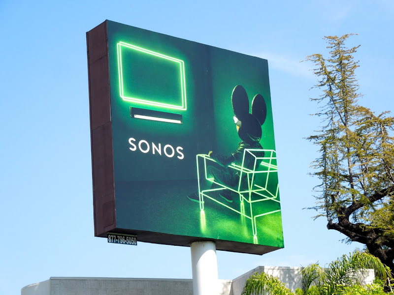 Sonos Playbar Deadmau5 green billboard