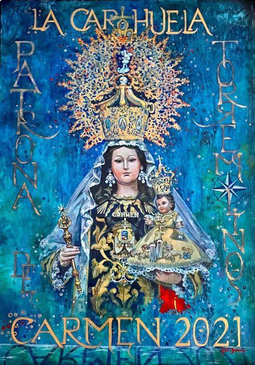 Cartel de Nuestra Señora del Carmen La Carihuela (Torremolinos) 2021