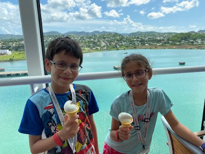 Eating icecream aboard the Disney Fantasy