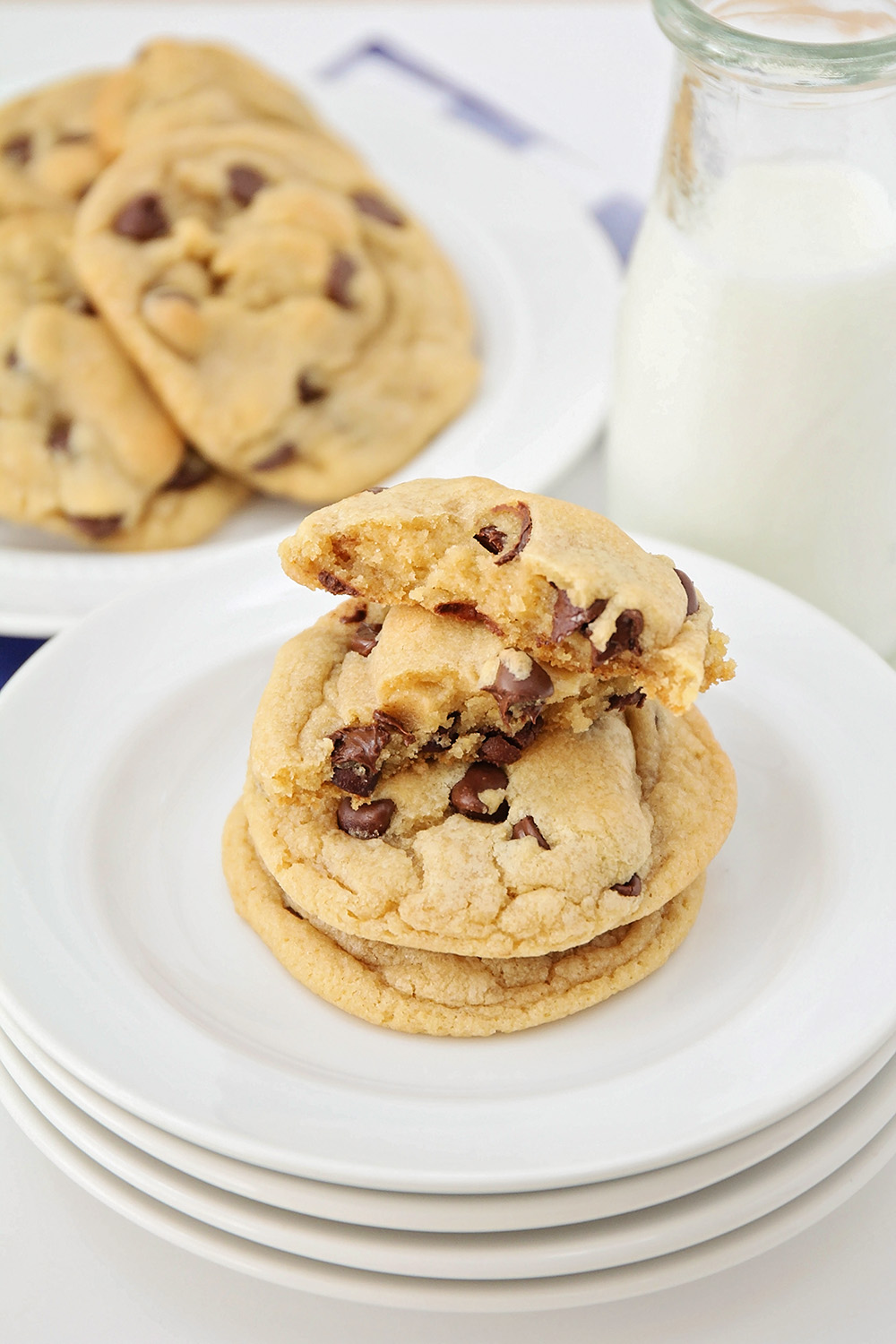 These perfect chocolate chip cookies are the only recipe you need for thick, chewy, luscious cookies! They're super easy to make and amazingly delicious!