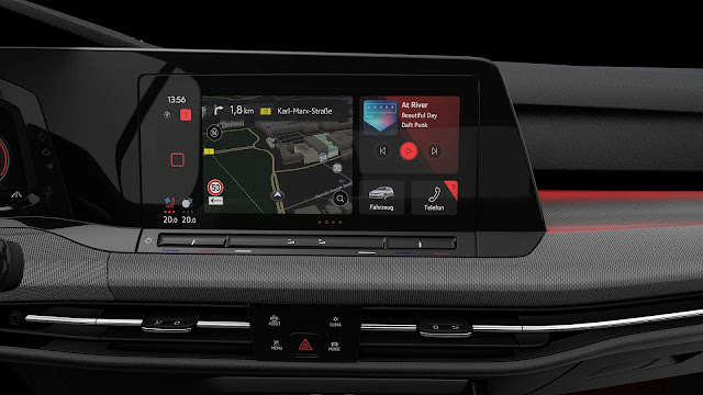 Novo VW Golf GTI 2021 Mk8 - interior