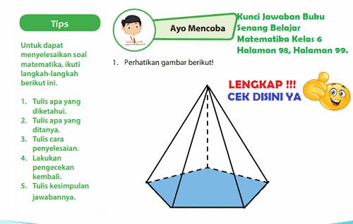 Lengkap Kunci Jawaban Halaman 98 99 Buku Senang Belajar Matematika Kelas 6 Kunci Jawaban Lengkap Dan Terbaru Simplenews