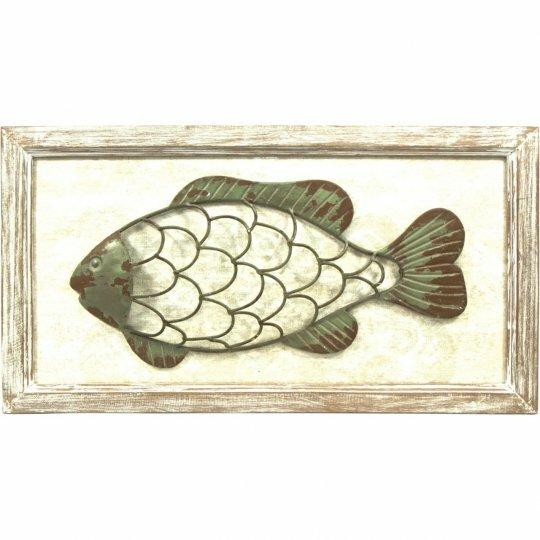 Wood and Metal Fish Wall Decor