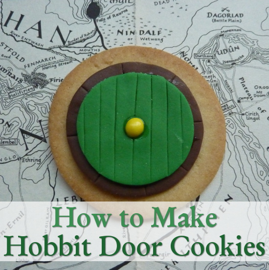 Green and brown woodland color Hobbit house home fairy door cookies