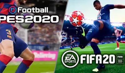 comparativa fifa 20 versus PES 2020