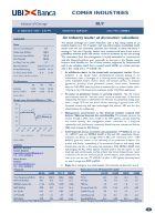 Studio societario di UBI Banca su Comer Industries