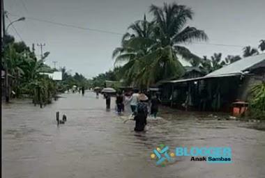 Sejumlah Desa di Paloh Terendam Banjir, Warga Masih Tetap Bertahan