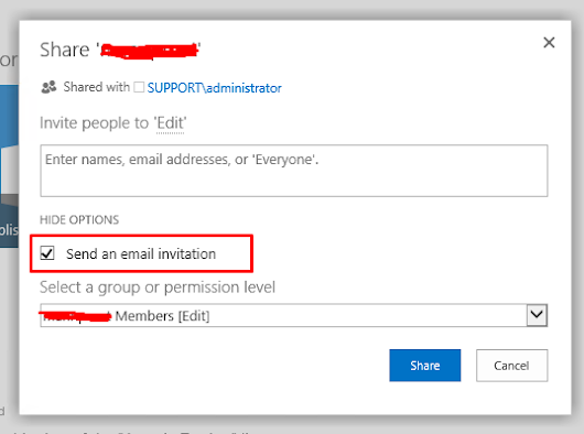 "Disable default ""send an email invitation"""