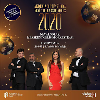 Bilkent Otel Ankara Yılbaşı Programı 2020 Menüsü
