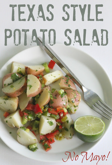 This is a flavorful, mayo free potato salad that's perfect for your summer cookouts!