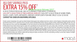free Macy's coupons february 2017