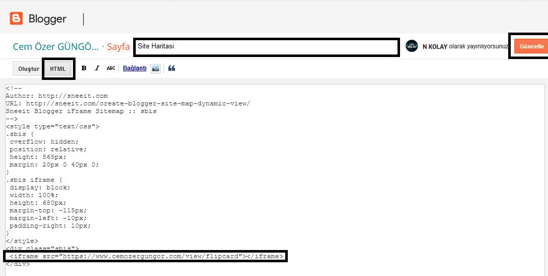 blogger sitemap kodları